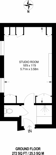 Large floorplan for Elvaston Place, Kensington, SW7