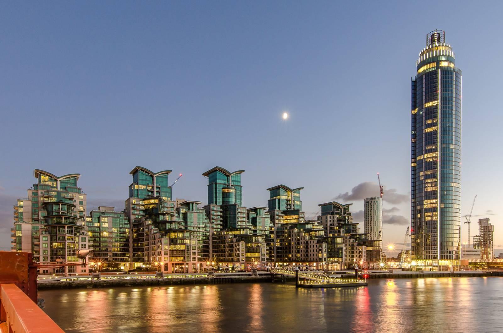 St George Wharf, Vauxhall, SW8, view