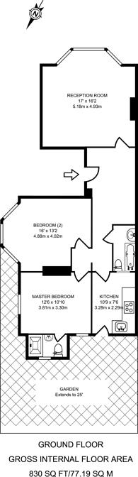 Large floorplan for Kempshott Road, Streatham Common, SW16
