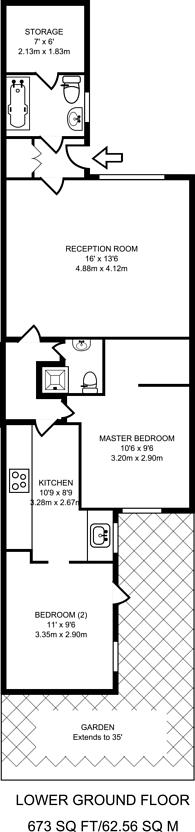 Large floorplan for St Stephens Gardens, Bayswater, W2