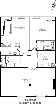 Large floorplan for Bolton Gardens, South Kensington, SW5