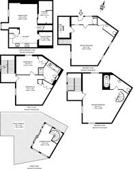 Large floorplan for William Mews, Knightsbridge, SW1X