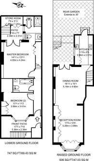 Large floorplan for Fernshaw Road, Chelsea, SW10