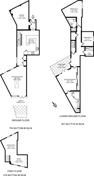 Large floorplan for Warwick Place North, Pimlico, SW1V