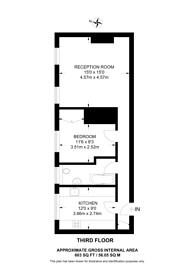 Large floorplan for Campden Hill Mansions, Kensington, W8