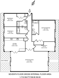 Large floorplan for Anchor House, Wandsworth Town, SW18