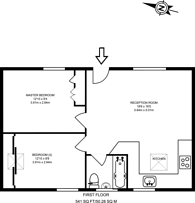 Large floorplan for Durweston Street, Marylebone, W1H