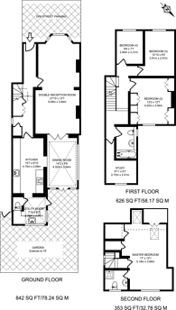Large floorplan for Kingswood Road, Wimbledon, SW19