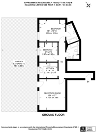 Large floorplan for Queens Grove, St John's Wood, NW8