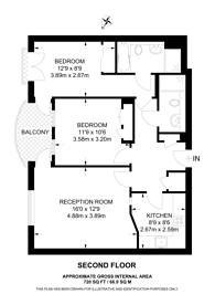 Large floorplan for Kew Riverside, Richmond, TW9