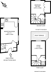 Large floorplan for Earls Court Road, Kensington, W8