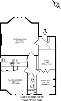 Large floorplan for Marlborough Hill, St John's Wood, NW8