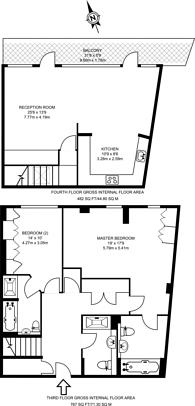 Large floorplan for Farm Lane, Fulham Broadway, SW6