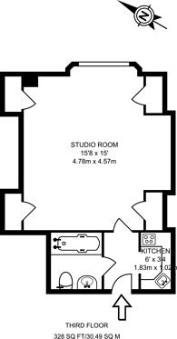Large floorplan for Hallam Street, Marylebone, W1W