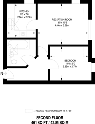 Large floorplan for Highfield Road, West Byfleet, KT14