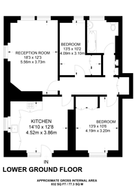 Large floorplan for Windsor Court, Moscow Road, Notting Hill Gate, W2