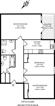 Large floorplan for Edith Terrace, Chelsea, SW10