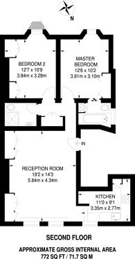 Large floorplan for St Quintin Avenue, Ladbroke Grove, W10