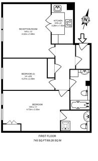 Large floorplan for Parsons Green Lane, Parsons Green, SW6