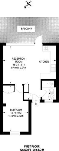Large floorplan for Clapham, Clapham Park, SW4