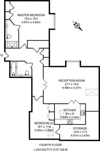 Large floorplan for Brentford Lock, Brentford, TW8