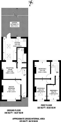 Large floorplan for Nursery Road, Brixton, SW9