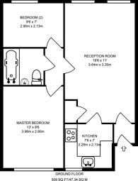 Large floorplan for Yalding Road, South Bermondsey, SE16