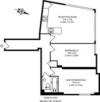 Large floorplan for Blackstock Road, Highbury, N5