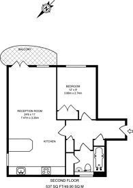 Large floorplan for Walnut Tree Close, Guildford, GU1