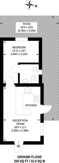 Large floorplan for Devonshire Road, Chiswick, W4