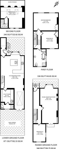 Large floorplan for Penshurst Road, Victoria Park, E9