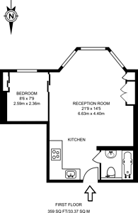 Large floorplan for St Quintin Avenue, North Kensington, W10