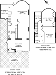 Large floorplan for Doyle Gardens, Kensal Rise, NW10