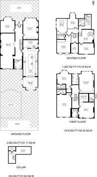 Large floorplan for Park Hill, Ealing, W5