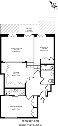 Large floorplan for Earl's Court Square, Earls Court, SW5