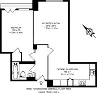 Large floorplan for Kilburn Priory, Kilburn, NW6