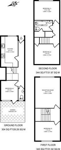 Large floorplan for Sumner Road, Peckham, SE15