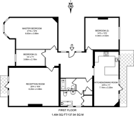 Large floorplan for Arthur Road, Wimbledon Park, SW19