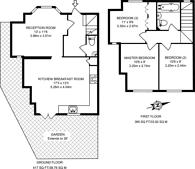 Large floorplan for Lincoln Road, Kingston, KT3