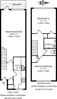 Large floorplan for Barnardo Gardens, Shadwell, E1