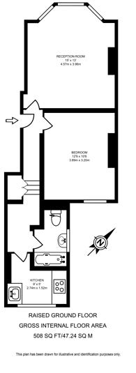 Large floorplan for Kilburn Park Road, Maida Hill, NW6