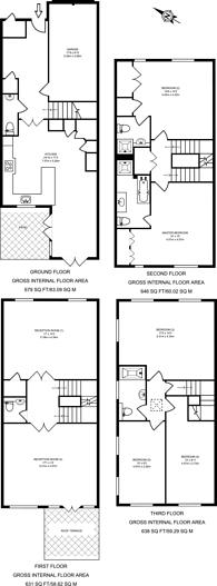 Large floorplan for Henry Tate Mews, Streatham Common, SW16