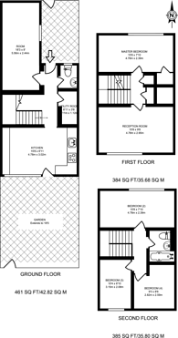 Large floorplan for North Drive, Tooting Bec, SW16