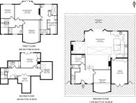 Large floorplan for York Avenue, East Sheen, SW14