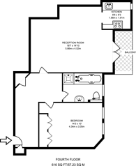 Large floorplan for Grove End Road, St John's Wood, NW8