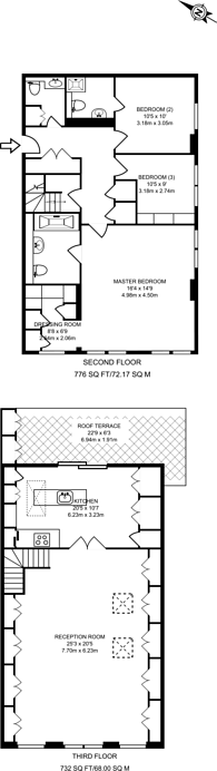 Large floorplan for Linstead Street, West Hampstead, NW6
