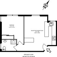 Large floorplan for Holmefield Court, Belsize Grove, Belsize Park, NW3