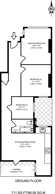 Large floorplan for Chapter Road, Willesden Green, NW2