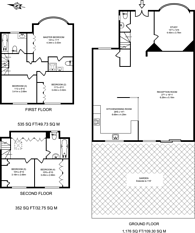 Large floorplan for Basing Hill, Golders Green, NW11