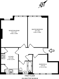 Large floorplan for Amberden Avenue, Finchley Central, N3